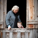With Mimi in the one-room schoolhouse at Stone Mountain Park