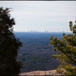 A view of the Atlanta skyline from the top of Stone Mountain