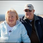 Mimi & Grandpa at the top of Stone Mountain